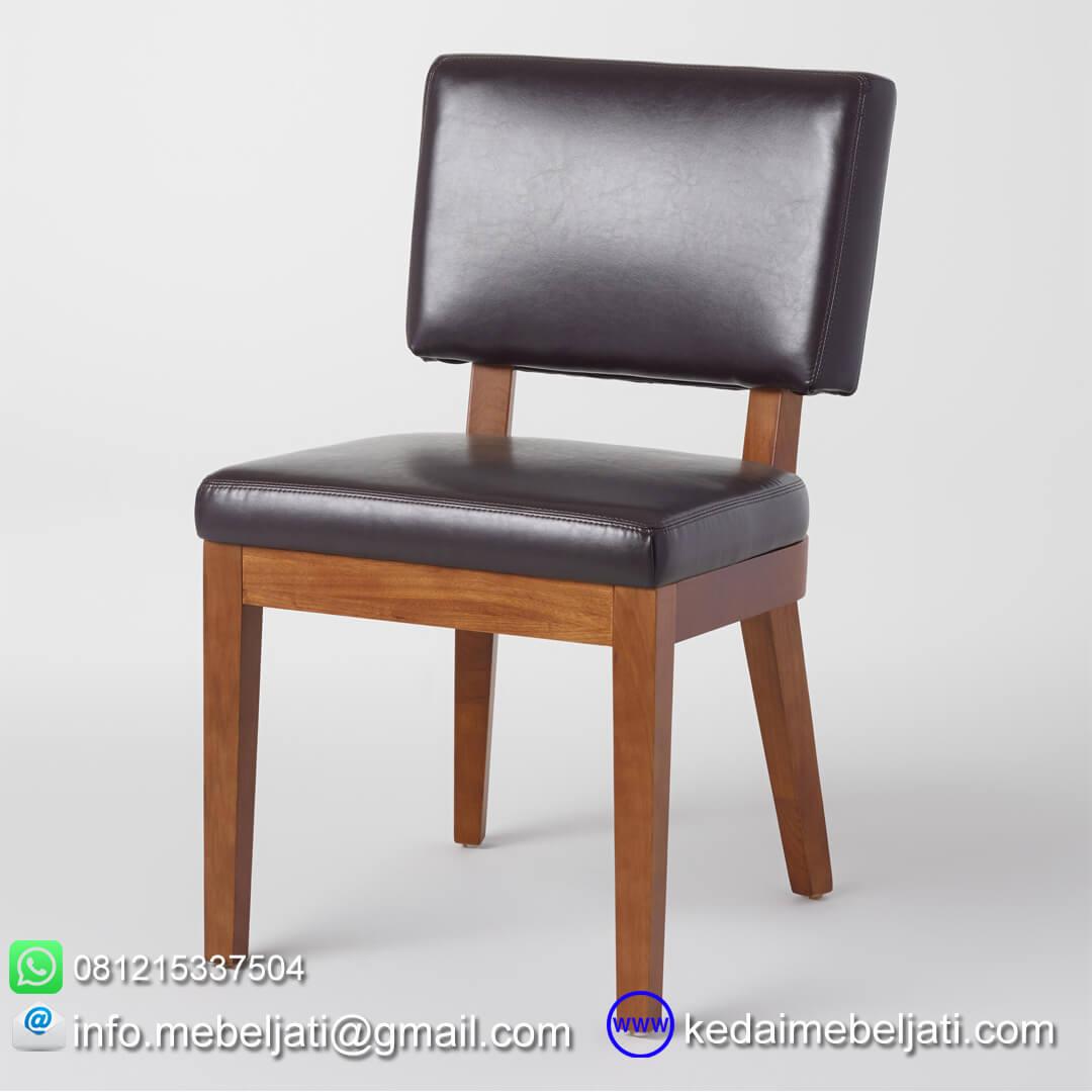 kursi makan jok hitam