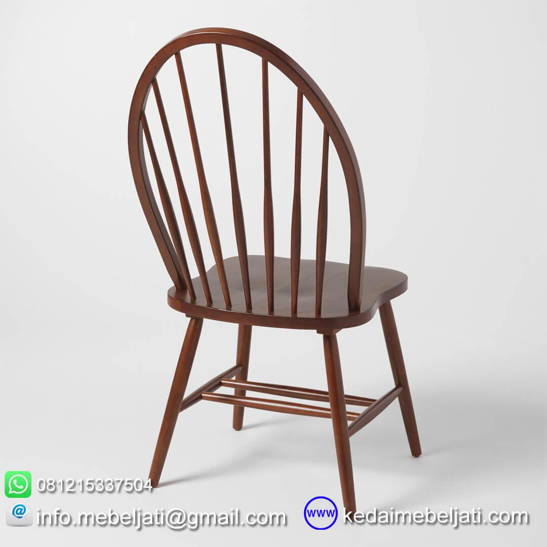 kursi makan minimalis american style tampak belakang