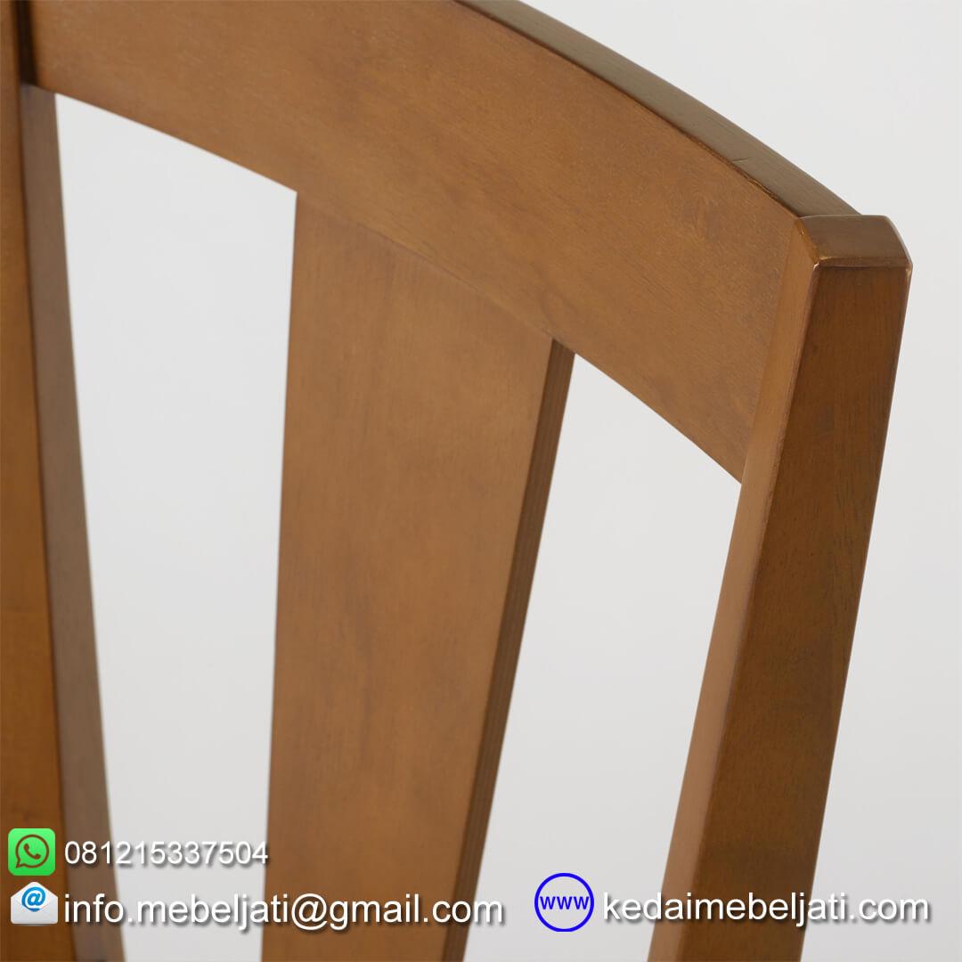 kursi makan minimalis simple detail sandaran