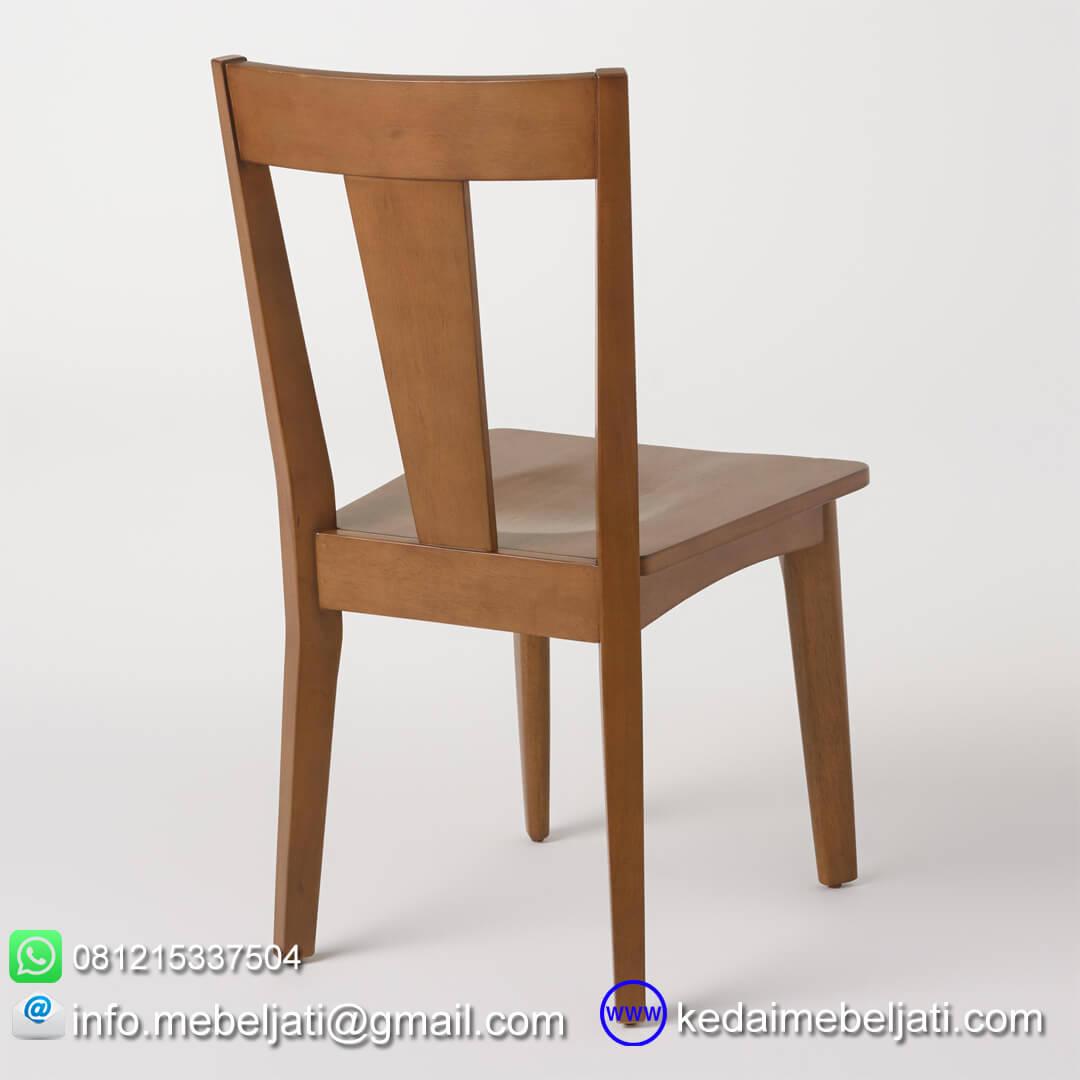 kursi makan minimalis simple tampak belakang
