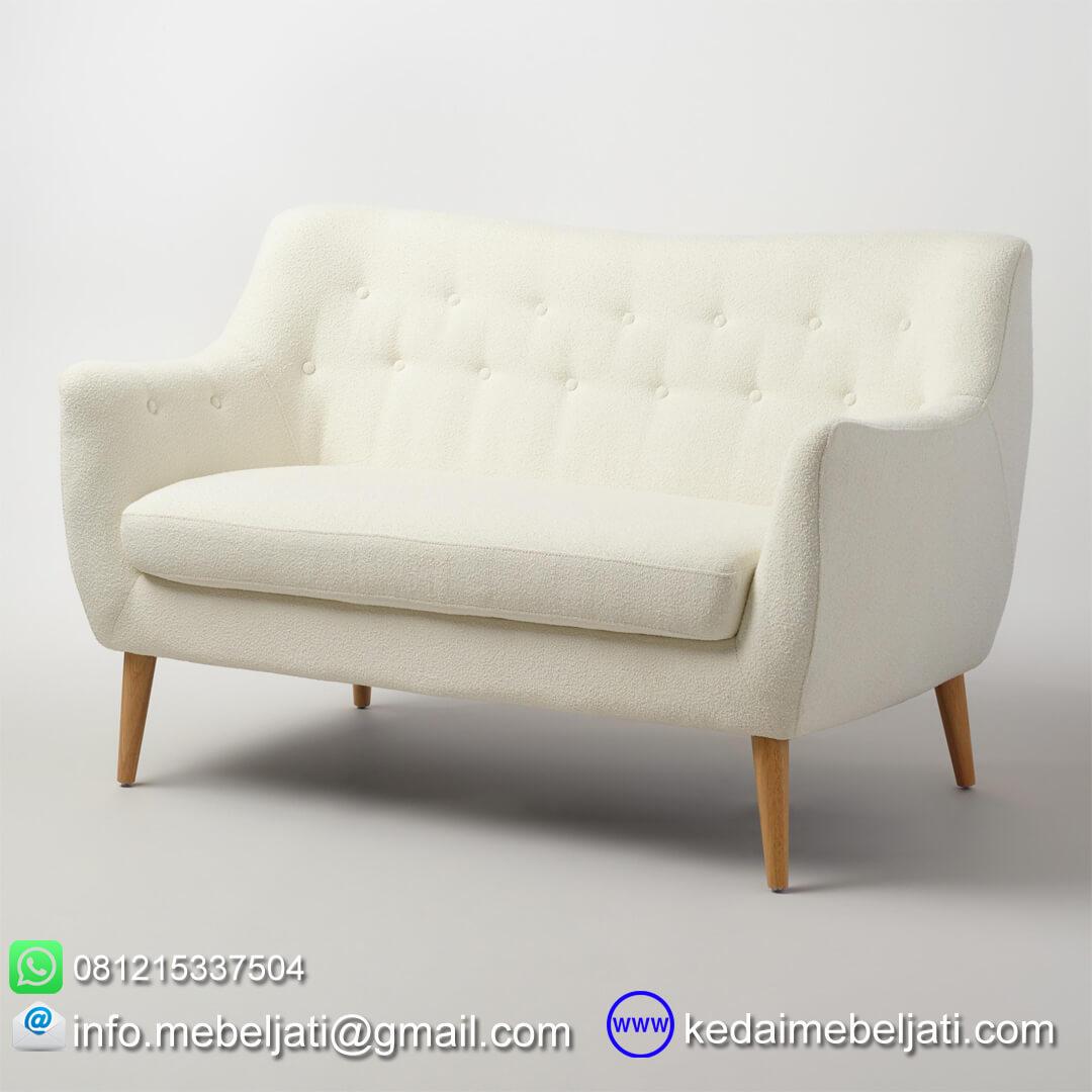 kursi sofa minimalis retro jati jepara