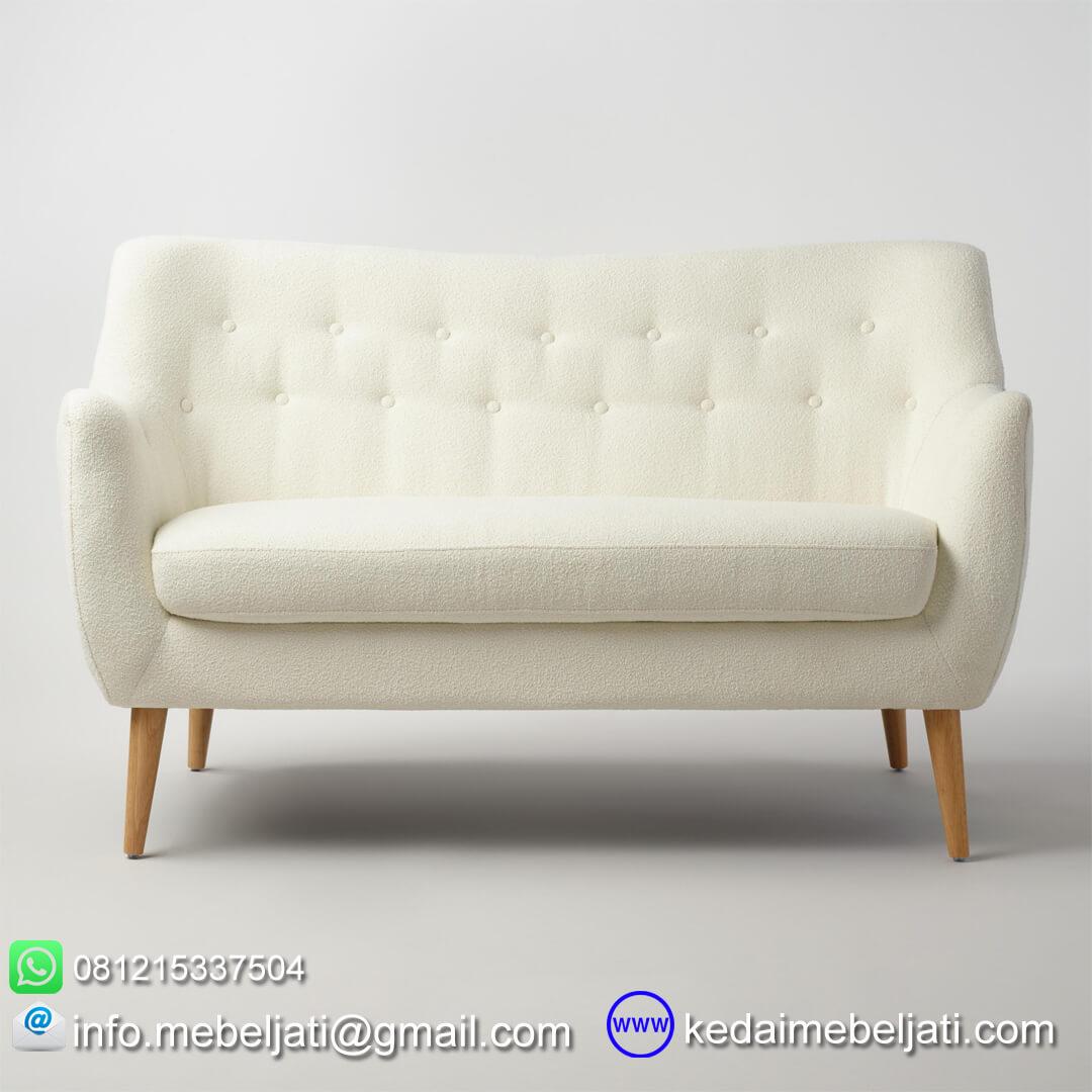 kursi sofa minimalis retro tampak depan