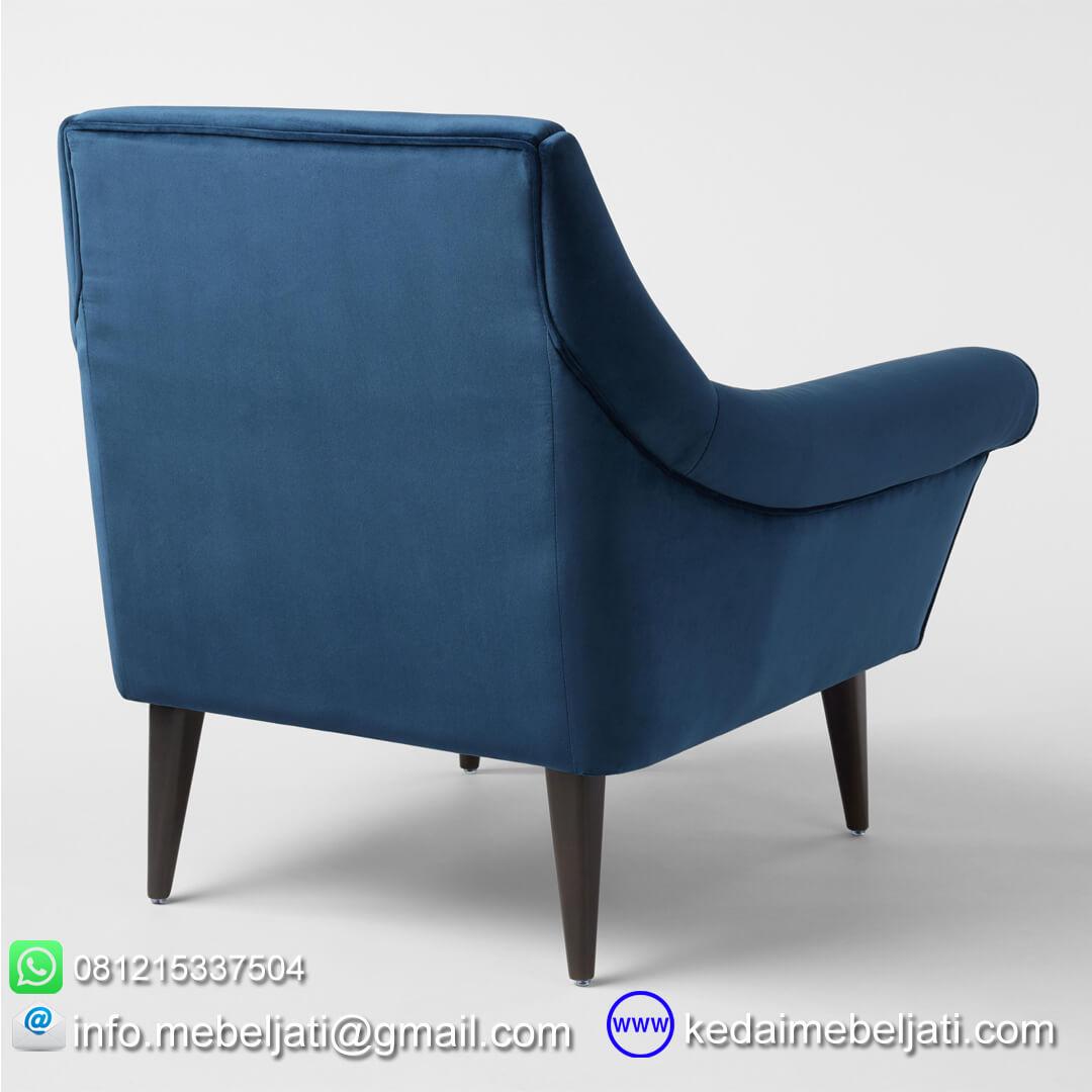 kursi sofa vintage minimalis lily tampak belakang
