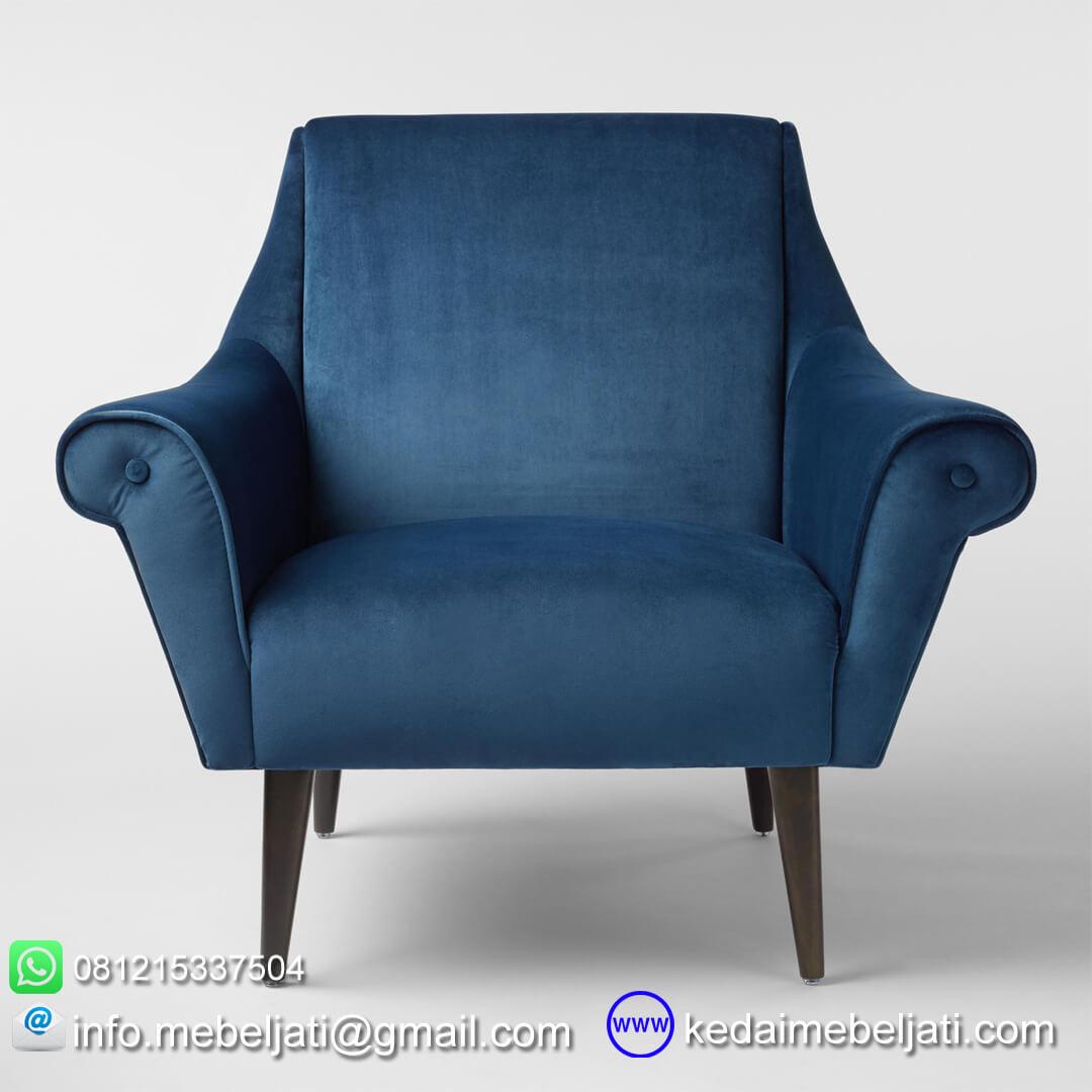 kursi sofa vintage minimalis lily tampak depan