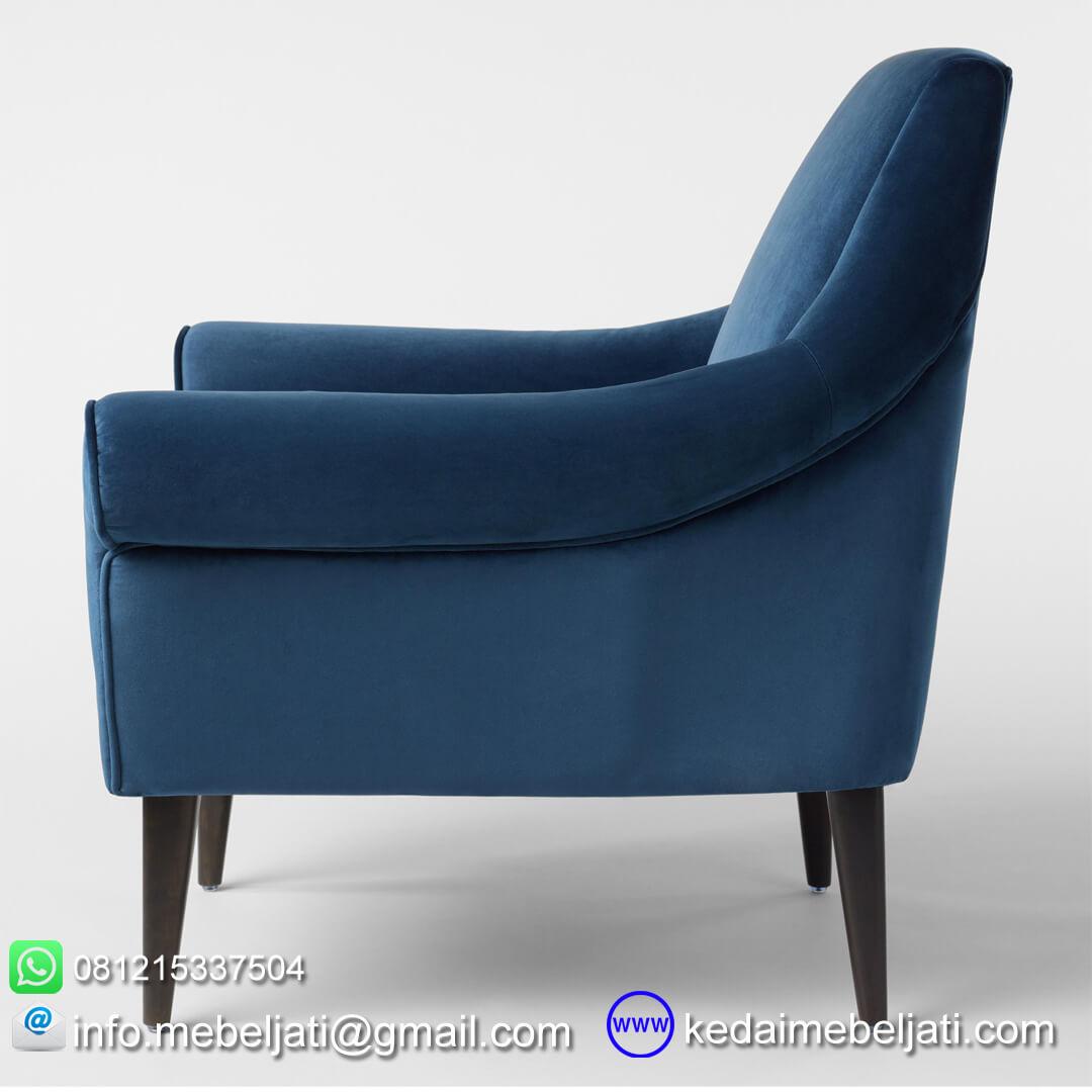 kursi sofa vintage minimalis lily tampak samping