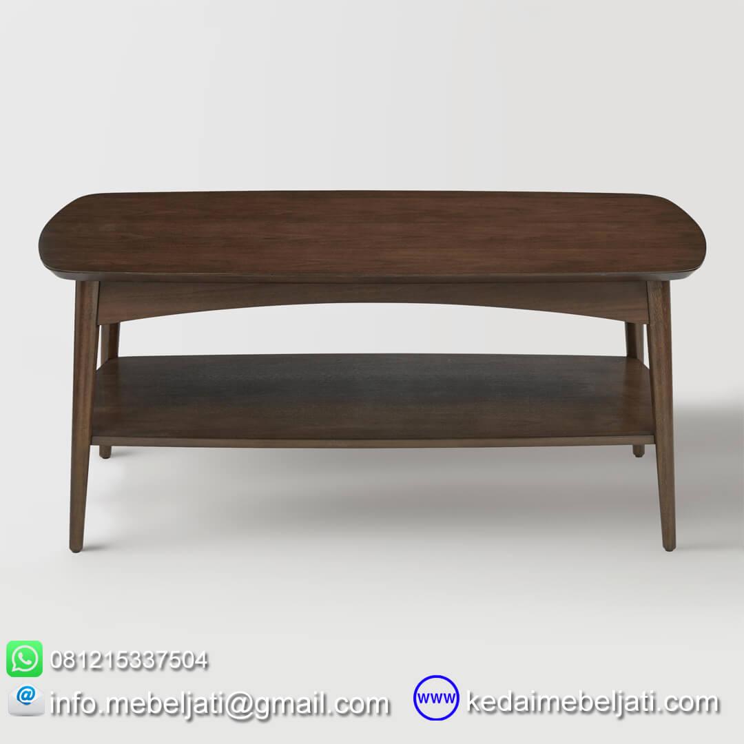 meja kopi design vintage tampak depan
