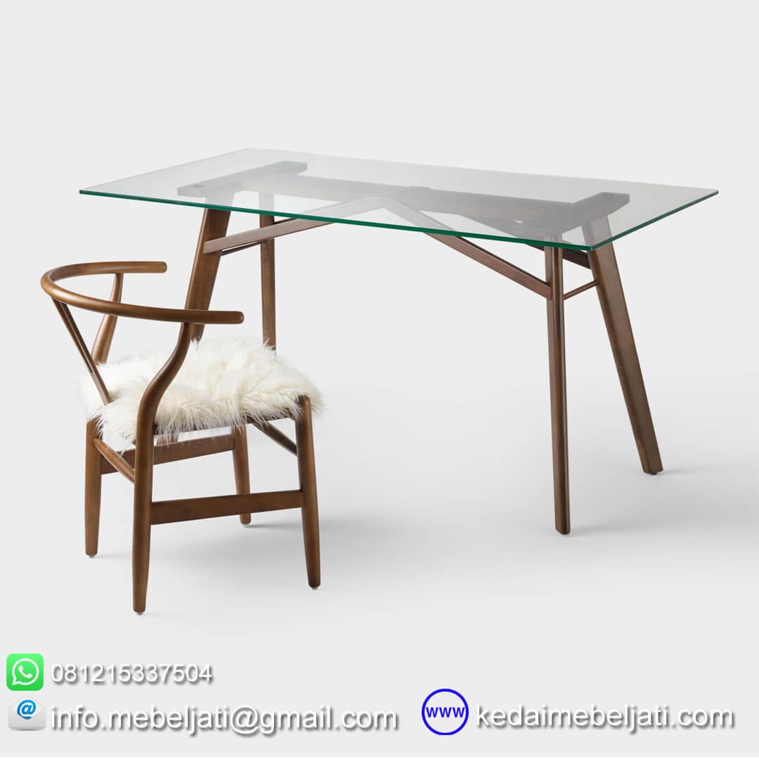 meja makan kaca minimalis
