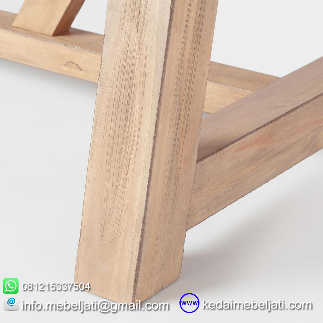 meja makan tarik jati minimalis detail kaki