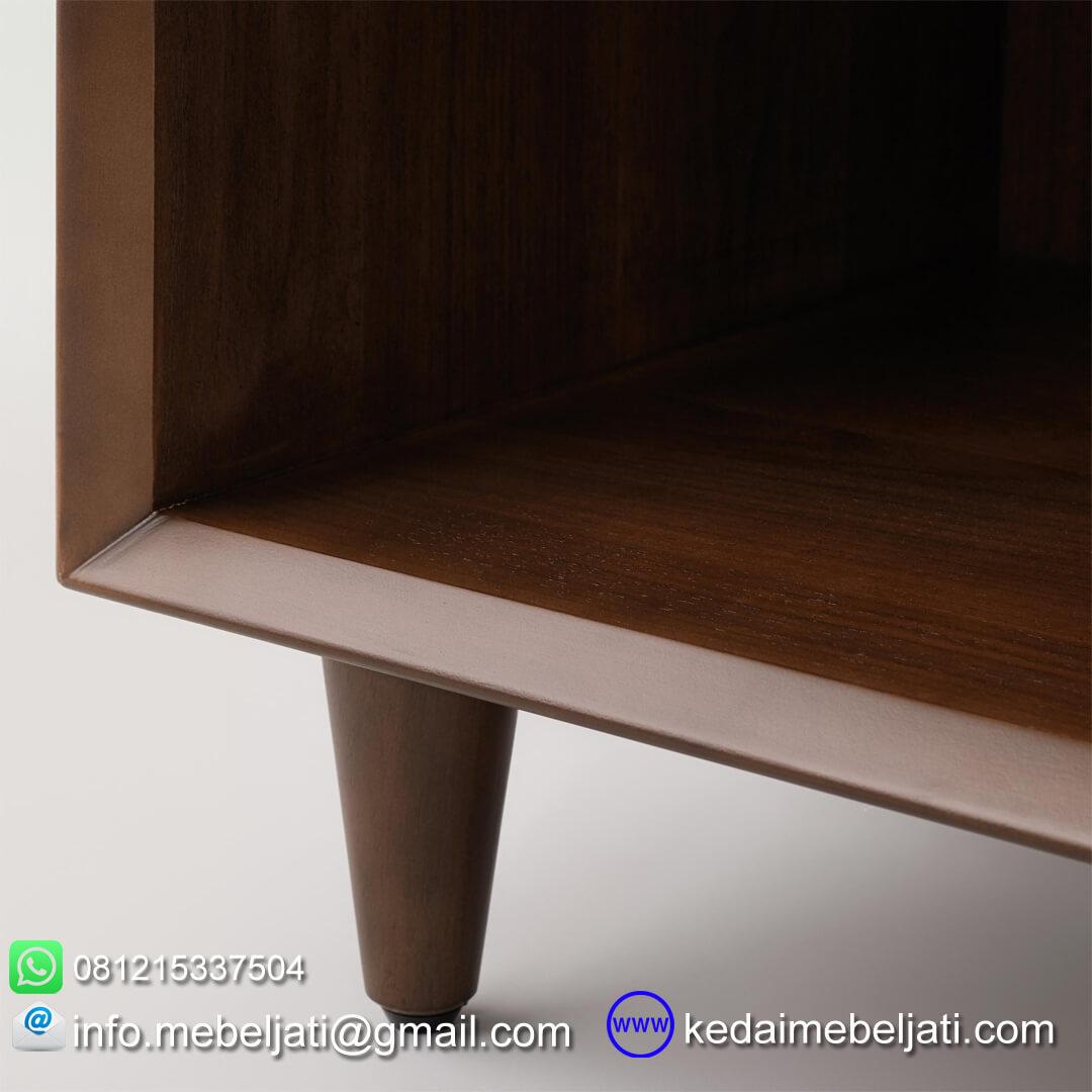 nakas modern minimalis kayu jati detail kaki