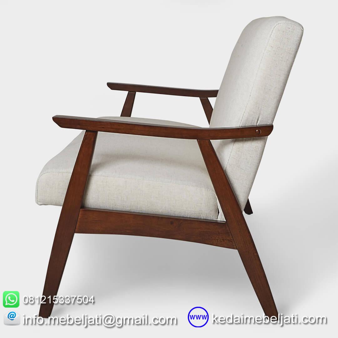 sofa jati minimalis retro tampak samping2