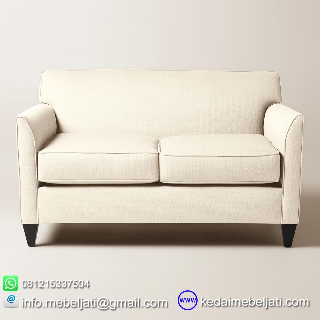sofa minimalis stella double seater tampak depan