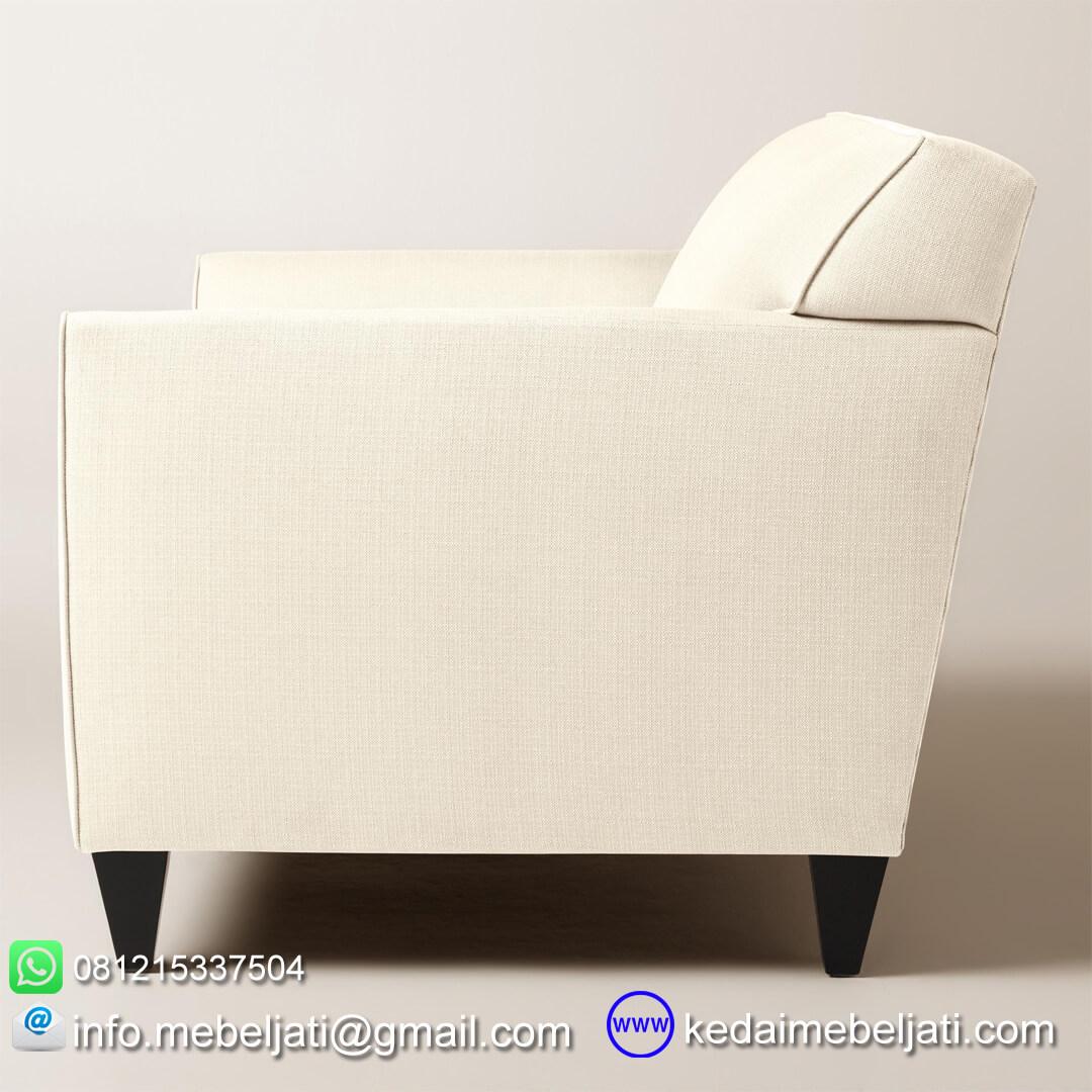 sofa minimalis stella double seater tampak samping