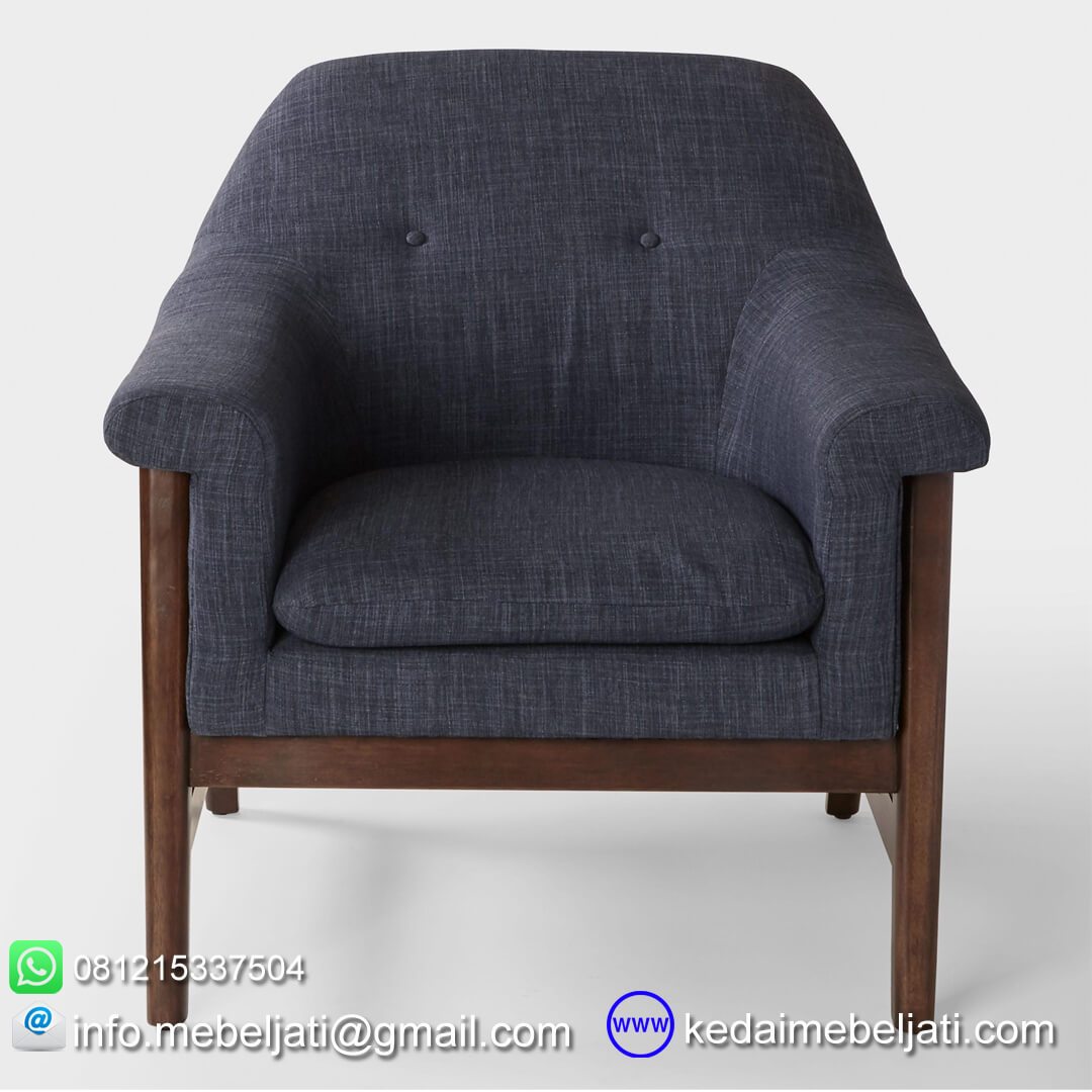 sofa santai minimalis britania tampak depan