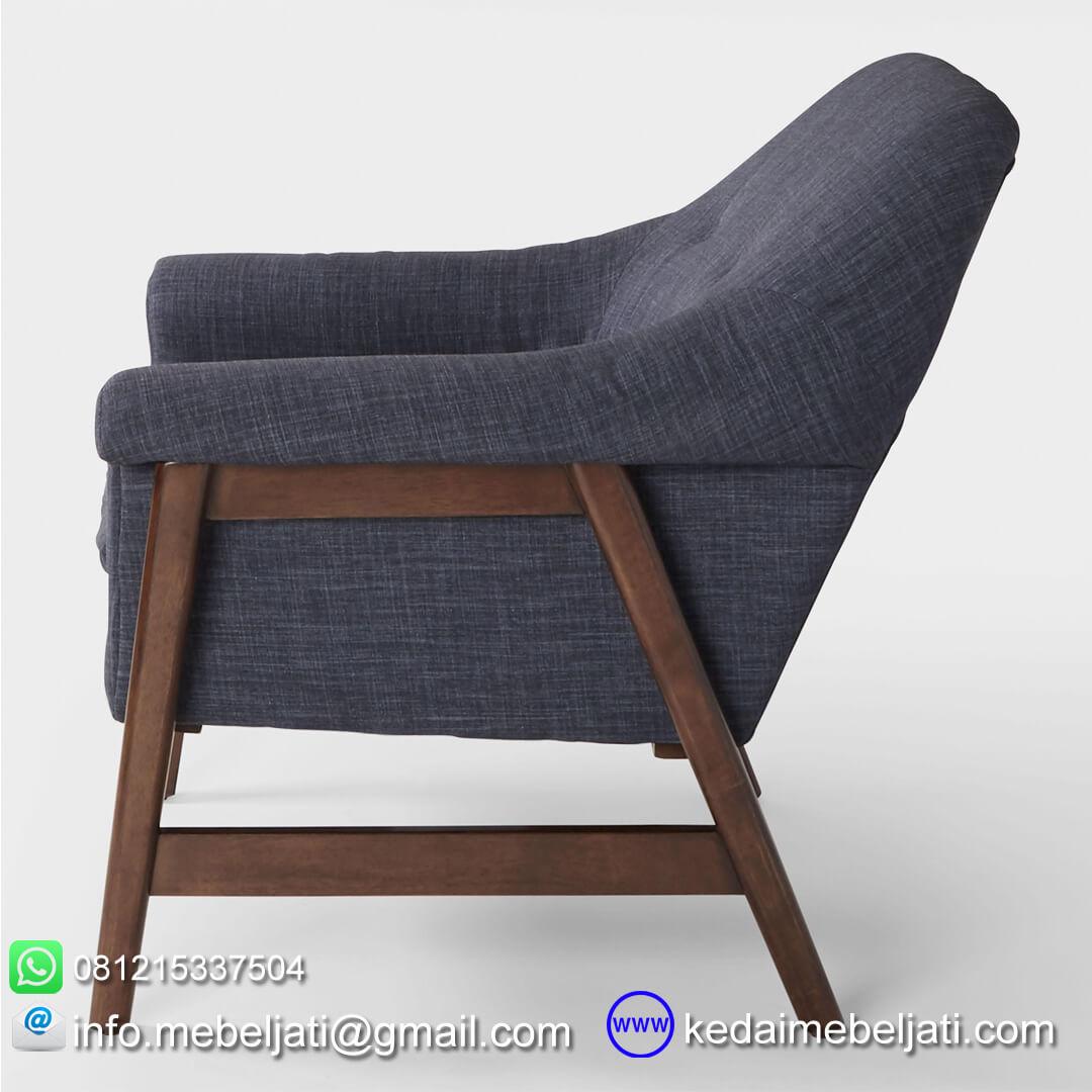 sofa santai minimalis britania tampak samping