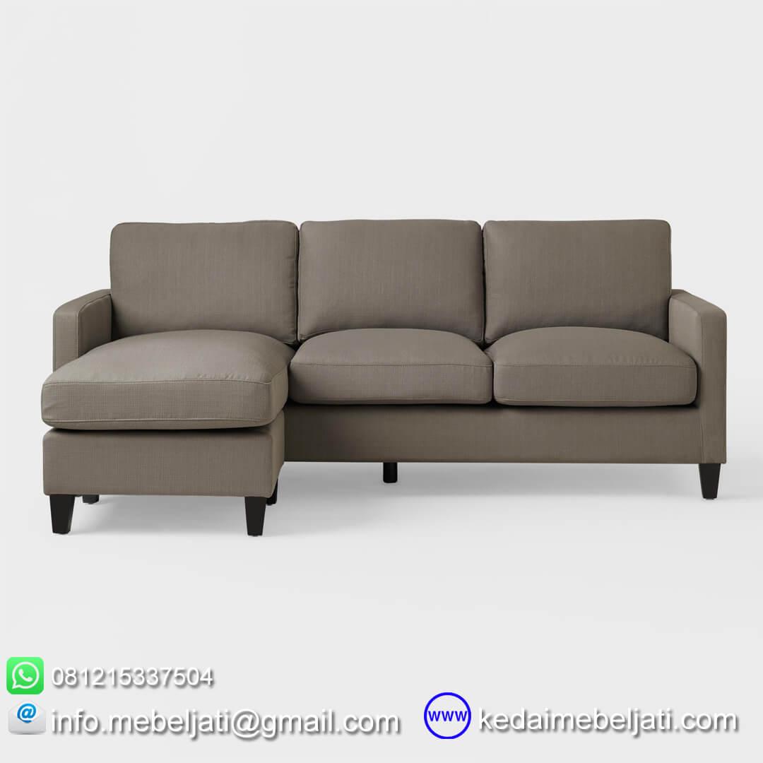 sofa sectional minimalis toba tampak depan