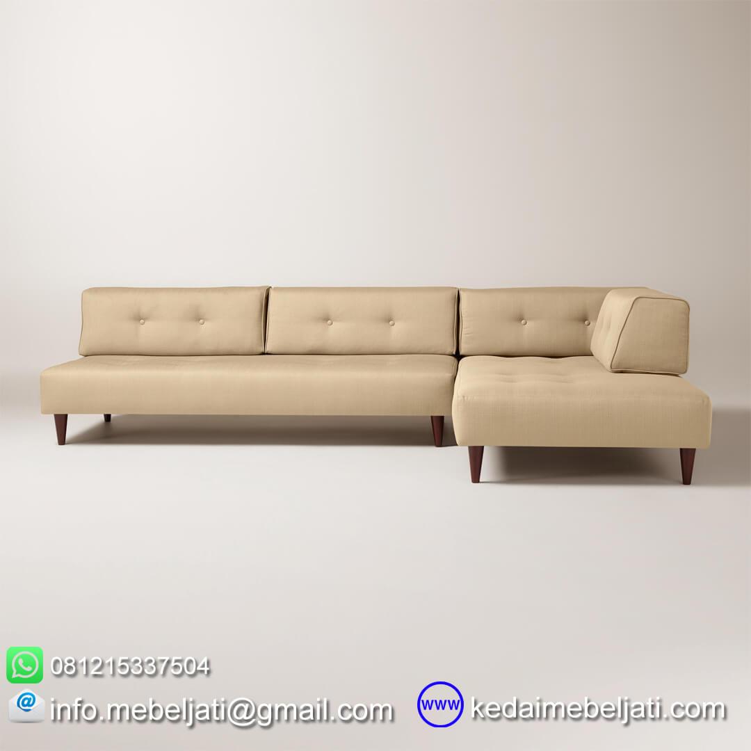 sofa sudut modern sectional valencia tampak samping