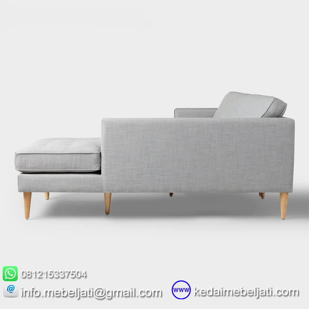 sofa sudut vintage minimalis
