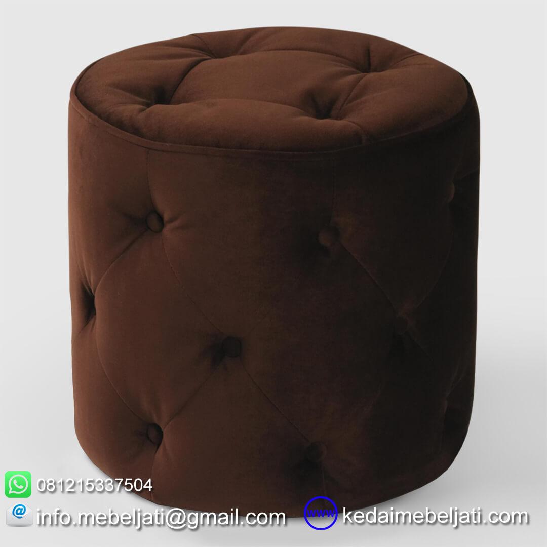 stool model minimalis unik jok coklat
