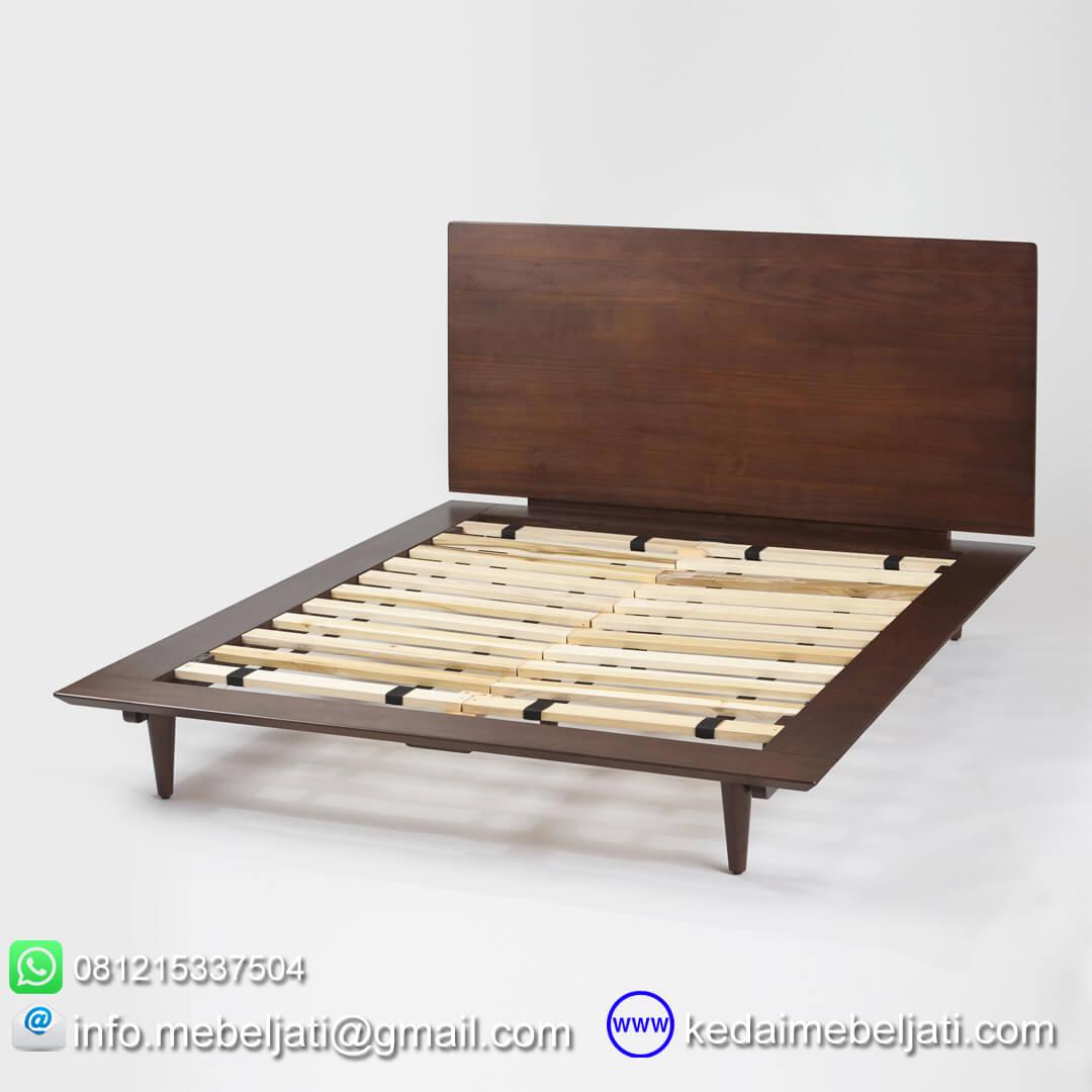 tempat tidur minimalis modern tampak dalam