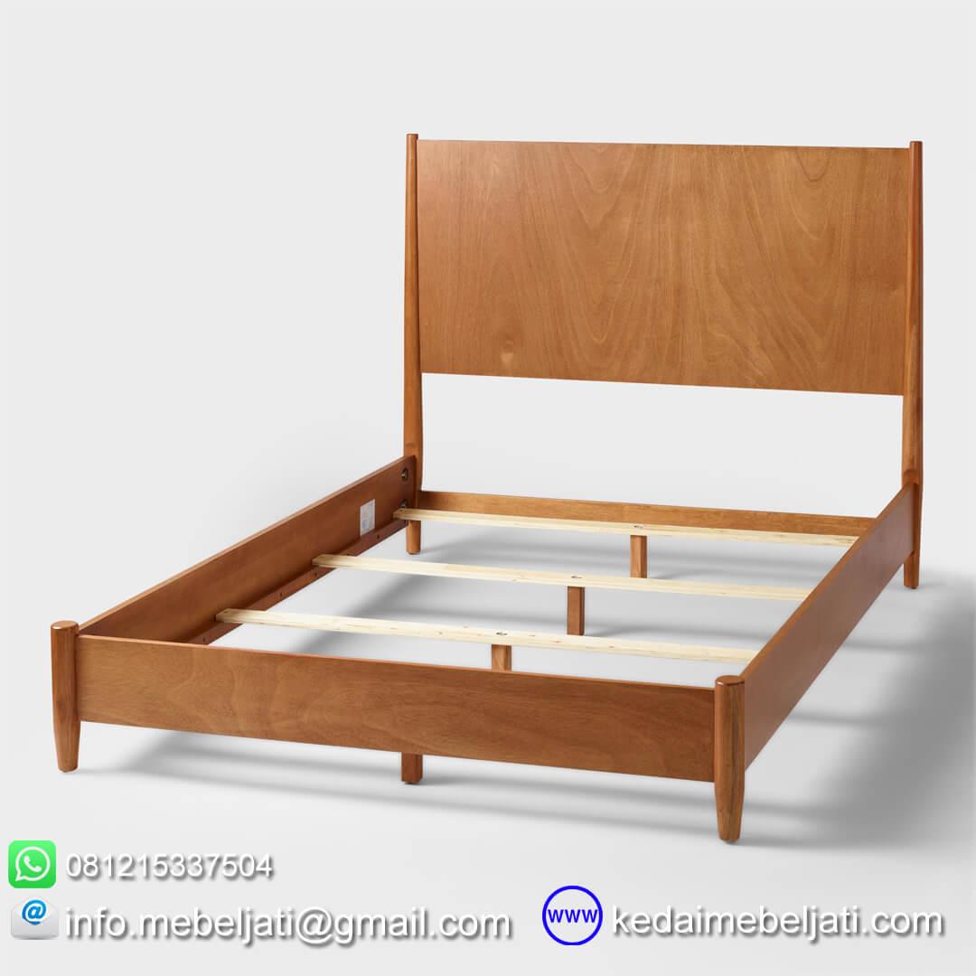 tempat tidur vintage minimalis tampak dalam