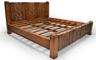Tempat Tidur Klasik Ukiran Kayu Jati Jepara